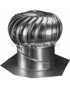 "Whirlybird® 12"" Turbine Vent  - Mill Finish - Internally Braced"