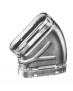 Flat Elbow for B Vent Oval Gas