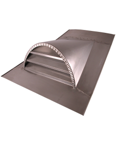 Stainless Steel Half-Round Louvered Dormer Vent