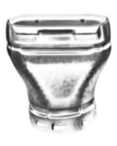 Round-to-Oval RAO Vent Pipe Adaptor