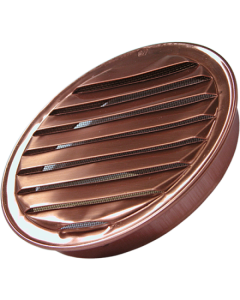 "Copper Round Soffit Vent with Screen (1.5"" to 8"")"