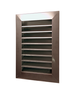 Stainless Steel Louvered Gable End Vent