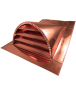 Copper Half-Round Louvered Dormer Vent