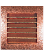 Hammered Copper Louvered Gable End Vent