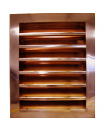 Copper Louvered Gable End Vent